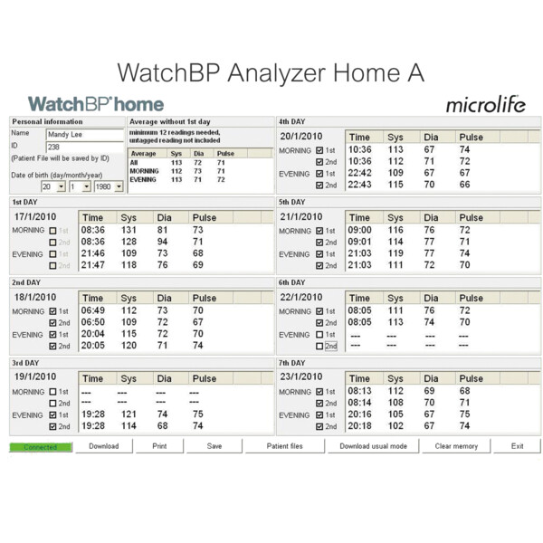 WatchBP Analyzer Home A